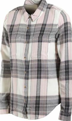949ae29757 Vans MERIDIAN III Womens Button Front Flannel Shirt Small Violet Ice NEW  2018