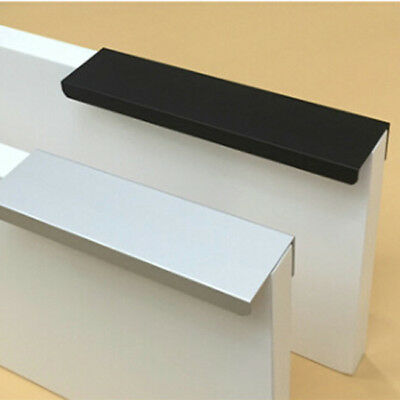 BLACK WHITE HIDDEN Cabinet Handles Kitchen Cupboard Furniture Drawer Pulls  FM