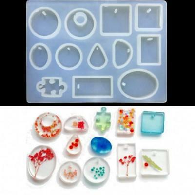 Translucent Silicone Mold Resin Jewelry Making Pendant Mould Epoxy Craft DIY FM