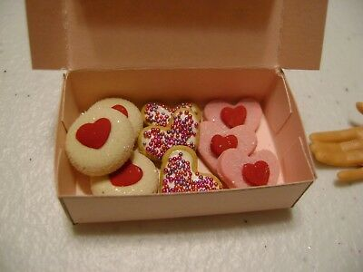 Barbie Dollhouse Food Valentine Assorted Cookies Handcrafted with a box  NEW