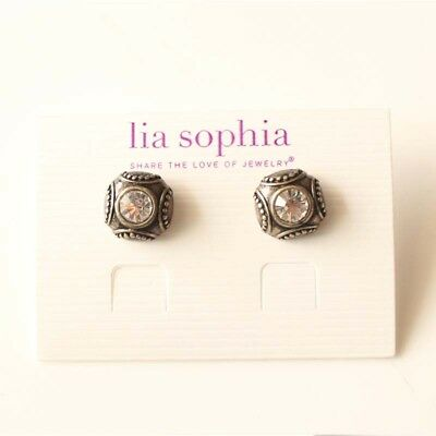 New Lia Sophia Floral Stud Earrings Gift Vintage Women Party Holiday Jewelry FS