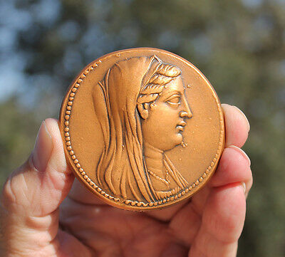 French medaille; Queen Berenice II of ancient Egypt, octadrachm