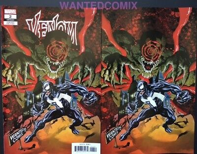 Venom #2 Wanted Comix Store Variant & Virgin Variant Set Donny Cates Sold Out 1