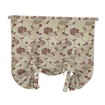 Both Side Jacquard Valance Balloon Curtain Blackout Window Roman Shades