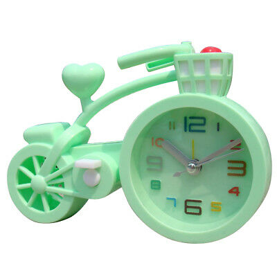 Mute Children Student Clock Bicycle Table Alarm Clocks Home Office Decor