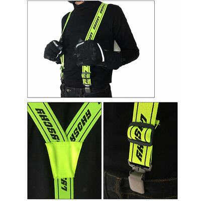 Clip-On Suspenders Braces Y-shape Adjustable for Motorcycle Racing Sports
