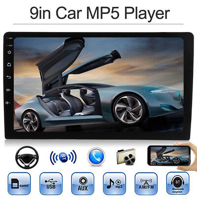 "9 ""1DIN Car MP5 MP3 Player Bluetooth Pantalla táctil Radio estéreo FM USB TF Aux"