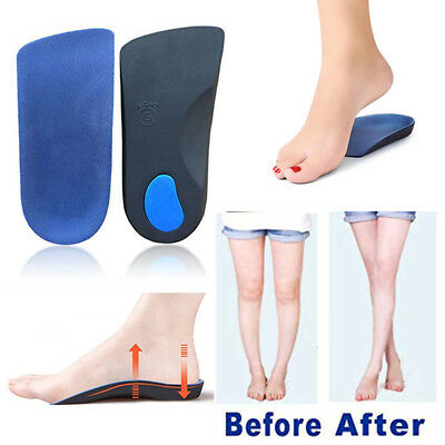 3/4 Orthotic Arch Support Insoles Fit Plantar Fasciitis Fallen Arches Flat Feet