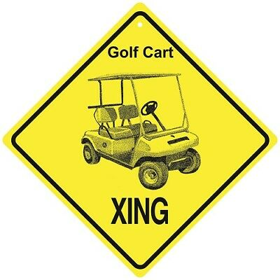 Golf Cart Crossing Xing Sign New