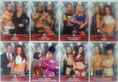 "WWE 2016 DIVAS REVOLUTION  "" Power Couples  "" Card Set of  10"