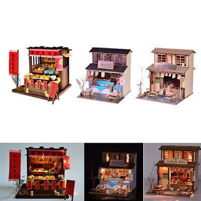 DIY Handcraft Miniature Project Wooden Doll House Antique Chinese Restaurant