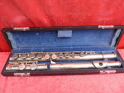 Fine,Old Transverse Flute __ Aubert S 210__925 Sterling-Silber __67cm__ with