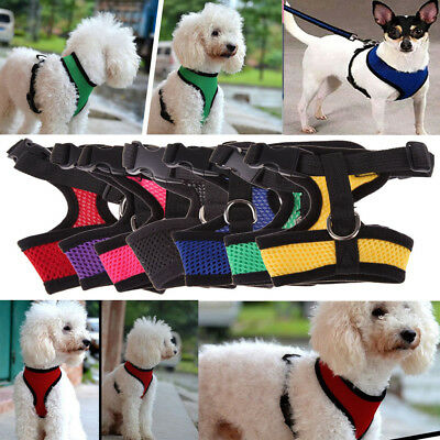 Pet Control Harness Dog Cat Nylon Breathable Mesh Walk Collar Safety Vest Strap