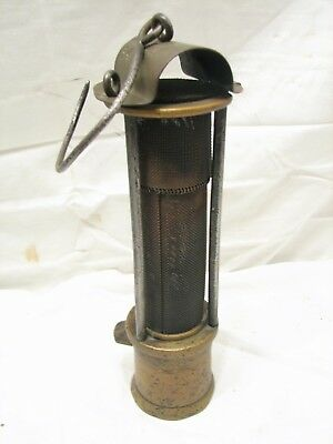 Antique Brass Coal Miners Carbide Davy Lamp Lantern Light JCB Mining M.R.R&M Co