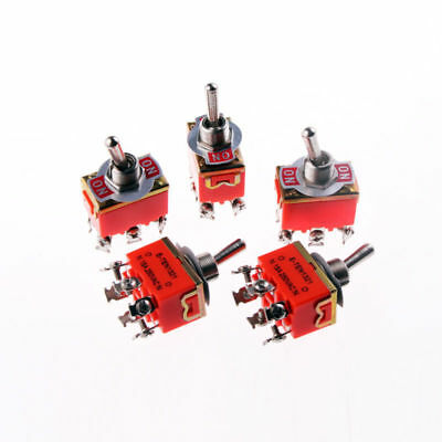 5x Heavy Duty Toggle Switch ON/ON DPDT 6 Terminal 15A/250V AC