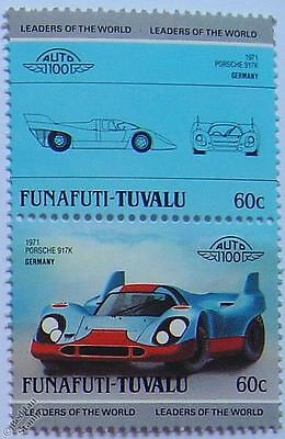 1971 PORSCHE 917K Car Stamps (Leaders of the World / Auto 100)