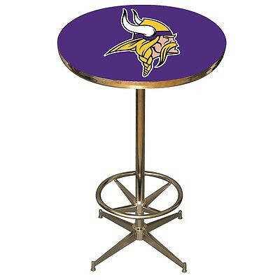 NFL Minnesota Vikings Logo Pub Table - NEW