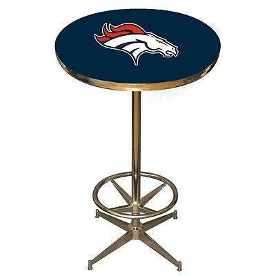 NFL Denver Broncos Logo Pub Table - NEW