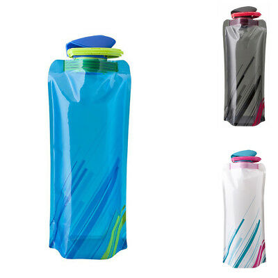 3X Folding Water Bottle Collapsible Water Bottle Travel Portable Kettle Cup