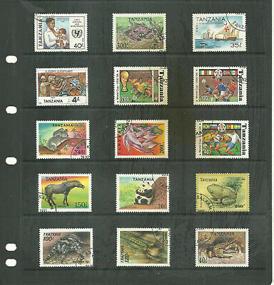 Commonwealth Tanzania    Africa   one stock sheet mix collection stamps
