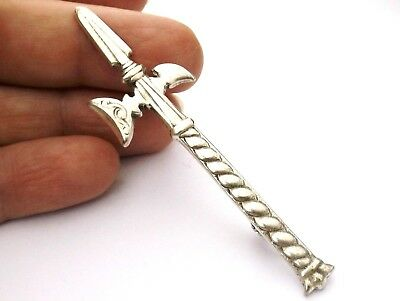 Brooch or Kilt Pin sterling Silver axe shape Celtic Arts Industies Iona Scottish