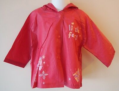 Baby Girls Cagoule Anorak aged 12 & 24 months Maroon Red Water resistant 2nd