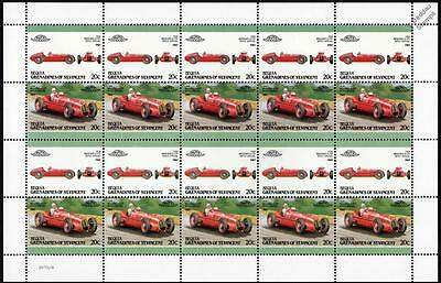 1939 MASERATI 8 CTF BOYLE Race Car 20-Stamp Sheet Auto 100 Leaders of the World