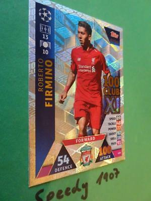 Topps Champions League 2018 2019 Club 100 XI Firmino Liverpool Match Attax #439