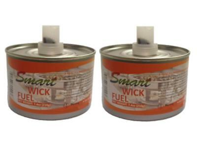 X2 Chafing Dish Wick Fuel Cans with 6hr Burn Time each - Catering Food Buffet