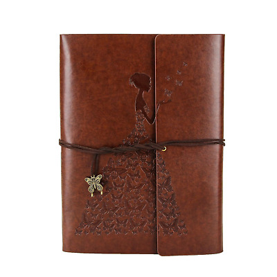 XIUJUAN Photo Album Scrapbook A5 Butterfly Girl Vintage Leather Guest Memory...