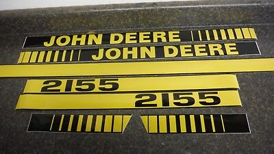 John Deere 2155 Tractor Decals. Hood & Numbers Only. See Details & Pictures