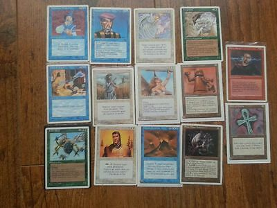 MAGIC MTG Lot 4ed VO  (8 rare, 7 Uncos) Triskelion, ankh , black mana…