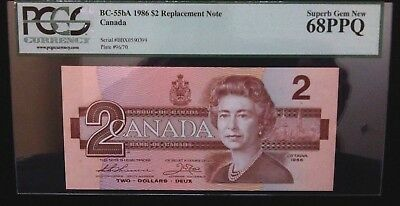 Bank of Canada 1986 $2 Replacement Note - PCGS Superb Gem New 68 PPQ