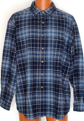 Pendleton 100% Wool Vintage Button Up Long Sleeve Flannel Size XL Elbow Patches