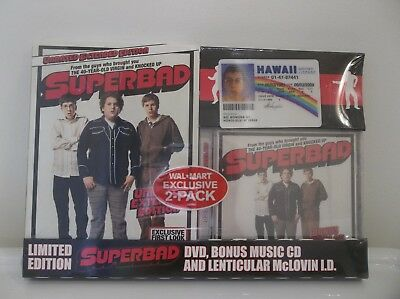 Superbad Unrated Extended Dvd Gift Set W/ Bonus Cd & Mclovin Fake Id New Sealed
