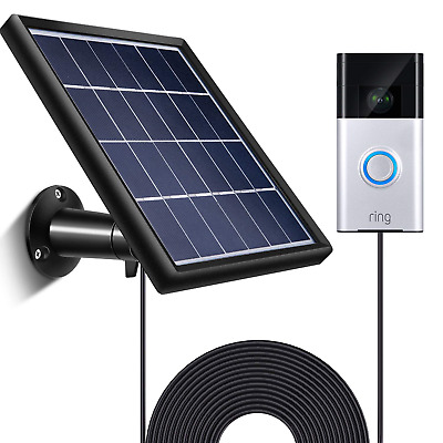 Solar Panel for Ring Video Doorbell 1/2, Waterproof Charge Continuously, 5...