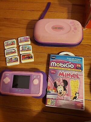 b3d9e462da Vtech MobiGo Touch Pink   Purple Learning System w  6 Games   Carrying Case