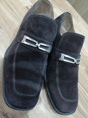 """Moreschi for Russell & Bromley Brown Suede """"Epic"""" Loafers UK size 7 EU 39.5"""