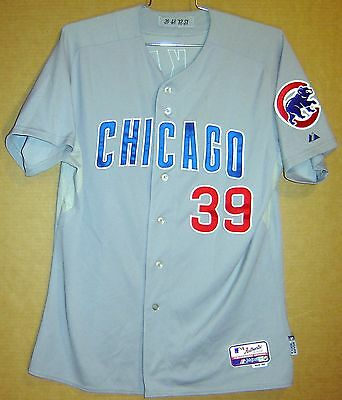 a7629b1eb CHICAGO CUBS  39 DAVE McKAY ROAD BUTTON-DOWN 2012 Size 48 MLB Majestic  JERSEY