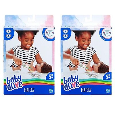 Hasbro Baby Alive Diapers Refill Pack 2 - 18 Count Boxes New