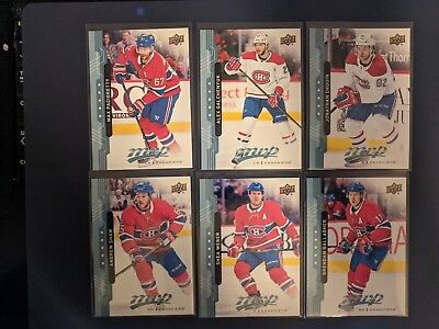 2018-19 MVP - Montreal Canadiens Team Lot - Blue Parallel (Factory Set Issue)