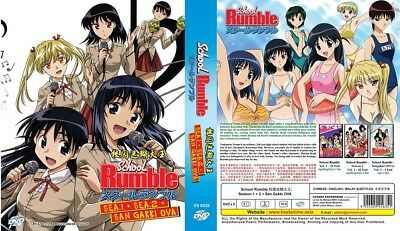 SCHOOL RUMBLE Box | S1+S2+OVA | Eps.1-55 | English Audio | 5 DVDs (VS0528)