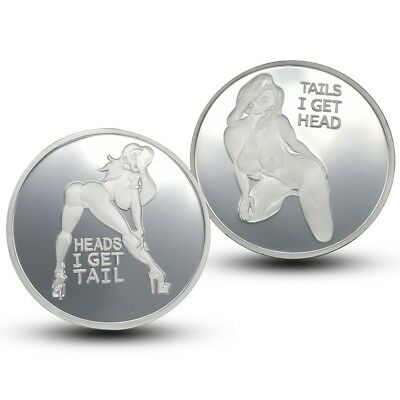Sexy Lady Good Luck Pin Up Heads & Tails Commemorative Challenge Coin Collection