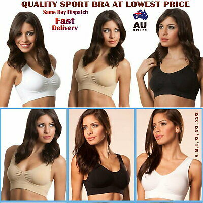 Seamless Sports Style Bras Crop Top Vest Comfort Stretch Shapewear bra AU