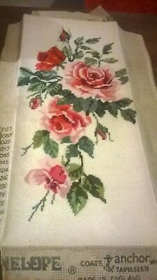 Completed Tapestry Of A Spray Of Roses