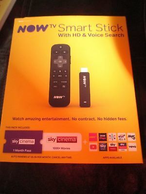 NOW TV Smart Stick with HD & Voice Search - New, unused -no passes