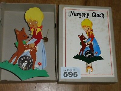 Unusual Vintage Nursery Wall Clock Boxed