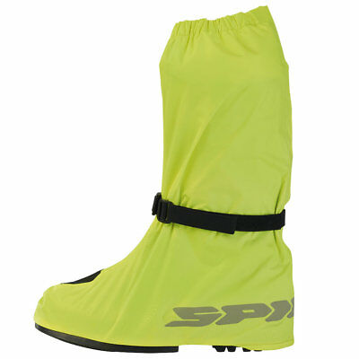 Spidi HV-Cover Motorcycle Over Boots M Yellow Waterproof Hi-Viz Motorbike Bike