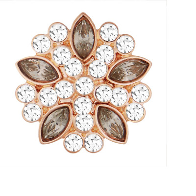 GET 5TH $6.95 SNAP FREE STANDARD GINGER SNAP Rose Gold AB Butterfly-BUY 4
