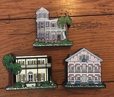 Lot of 3 Shelia's Collectibles Daisy Connection Key West Houses Hemingway (62)